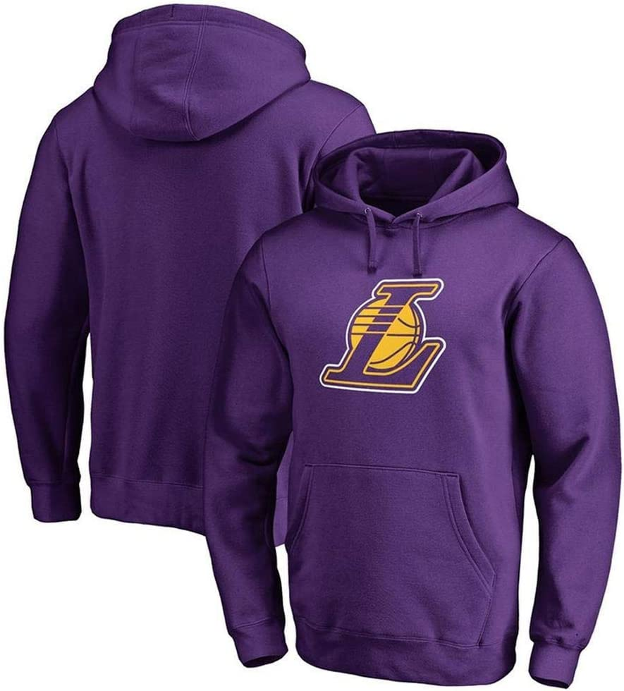 Color : Yellow, Size : S LLSDLS NBA Hoodie L.A Laker Fashion Men Basketball Pullover Sweater Youth Top Casual T-Shirt Camiseta