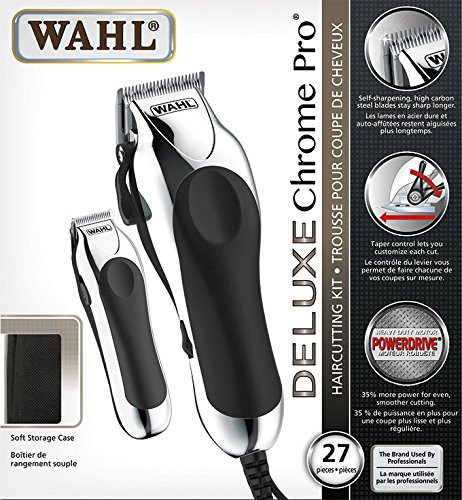 Wahl 3141 Deluxe Chrome Pro Haircutting Kit