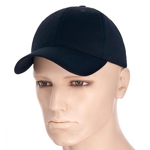b7ee642c8fe88 M-Tac Plain Baseball Cap Hat Ripstop Cotton Adjustable (Dark Navy Blue