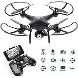 Goolsky Dongmingtuo X8 Drone Wifi FPV 2.4G Droni telecamera 720P RC Quadcopter Altitude Hold APP Controllo 3D Flip Headless Mode (NERO)