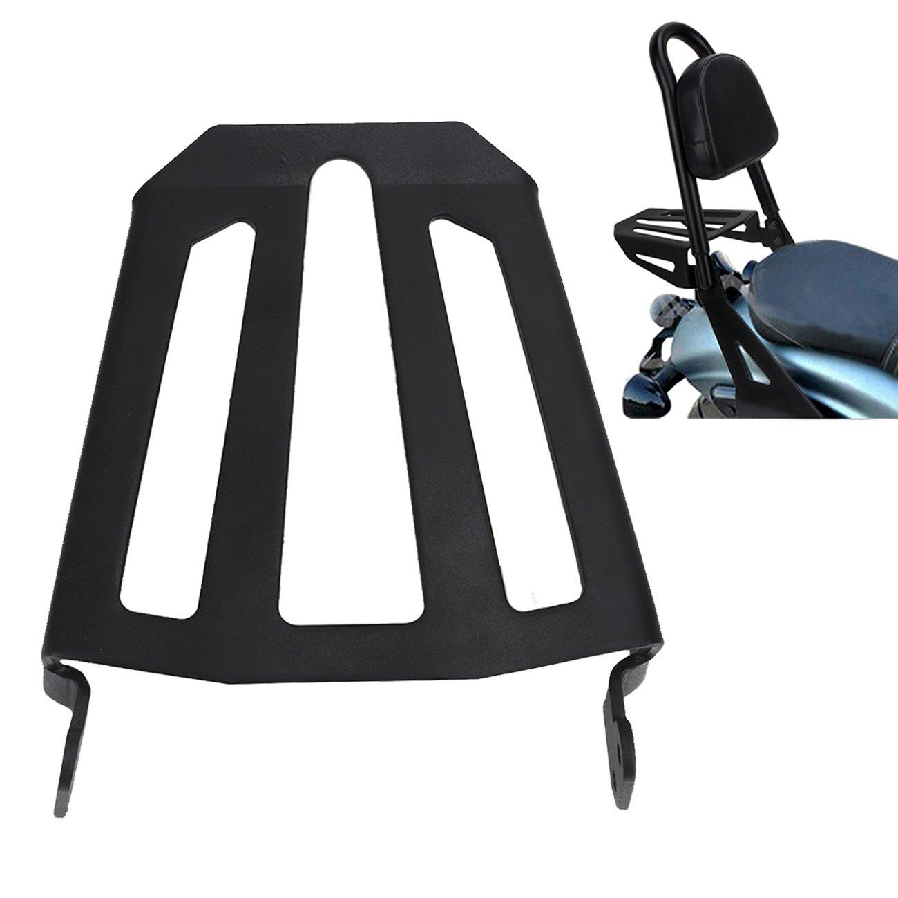Detachable Passenger Backrest Luggage Rack for Yamaha Bolt Cruiser Black Midnight 2014-2017 BOXWELOVE