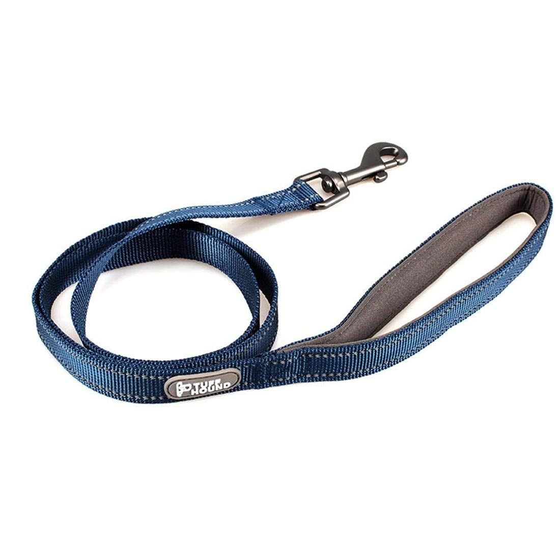 bluee M bluee M AUSWIEI Dog Leash Nylon Reflective Hand Guard Dog Chain Bolt Dog Rope Pet Supplies (color   bluee, Size   M)