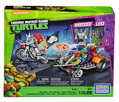 Mega Bloks Teenage Mutant Ninja Turtles Leo Shredder Showdown Construction Set