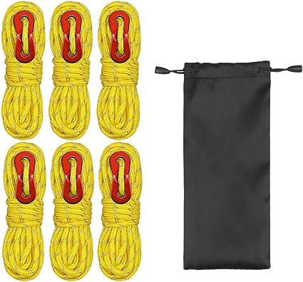 Camping Zeltseile Polyester Reflektieren Schnur Verstellbare Schnallen Wandern