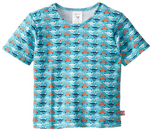 Zutano Baby Boys V Room Short Sleeve Tshirt, Pool, 18 Months (V Baby T-shirt)