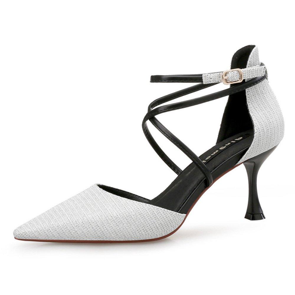Frauen Sommer Strap Sandalen Sexy High Heels Abend Hochzeit Pumps Damen Klassische 5 CM Spitz Schuhe