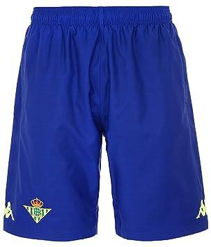 Pantalón corto de entrenamiento - Real Betis Balompié 2018 2019 - Kappa  Ahora 2 Short - Azul - Adulto  Amazon.es  Deportes y aire libre d72e8a5f8cc28