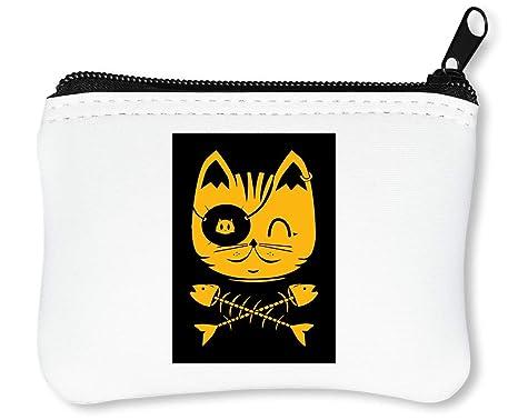 Cat The Pirate Cute Billetera con Cremallera Monedero ...