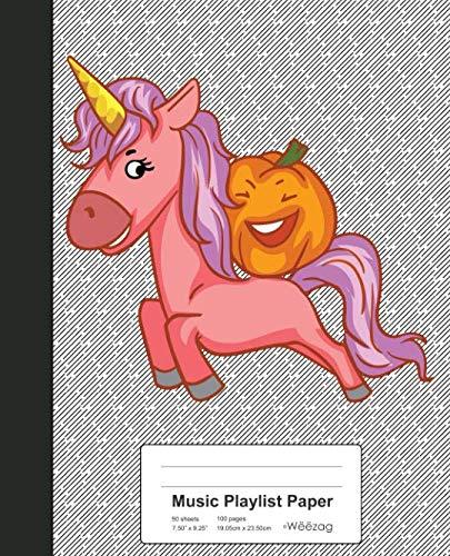 Halloween Songs Spotify (Music Playlist Paper: Pumpkin Riding Unicorn Book (Weezag Music Playlist Paper)