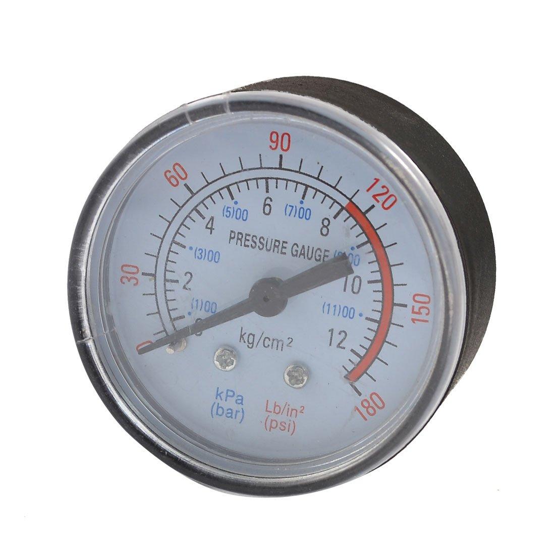 0– 180 Psi 0– 12 bar schwarz Kunststoff Shell Luftdruck Messuhr Sourcingmap a12052200ux0121