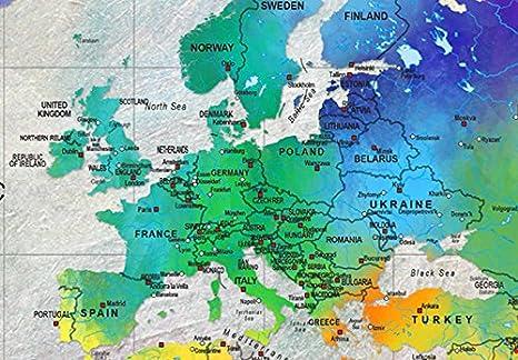 Murando quadro acustico mappa del mondo pannello di sughero