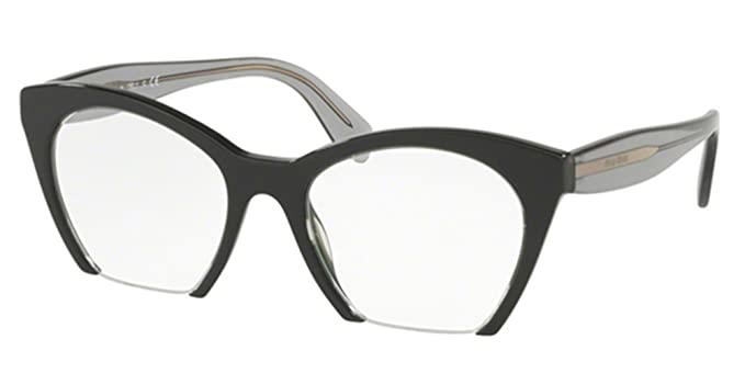 0728d1ca9b9e Miu Miu RASOIR EVOLUTION VMU03Q BLACK women Eyewear Frames  Amazon.co.uk   Clothing