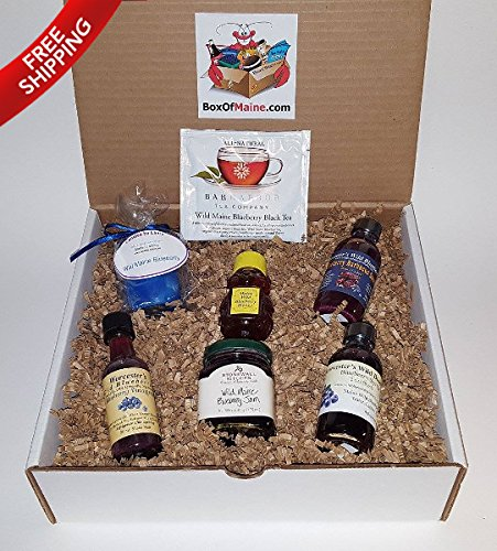 Wild Maine Blueberry Sampler Gift Pack - 7 Count - Maine Made - Great for Holidays & Birthdays by Box of Maine
