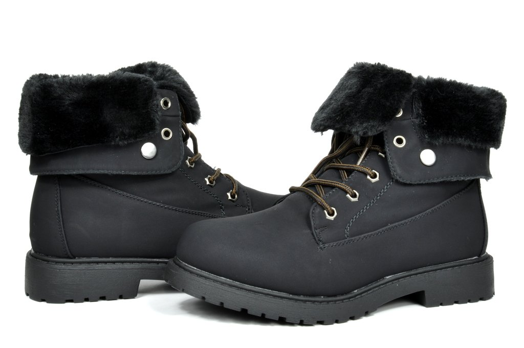 DREAM PAIRS LUGG Womens Winter Fur Lined Collar Lace up Cozy Snow Ankle Boots with Durable Outsole Booties