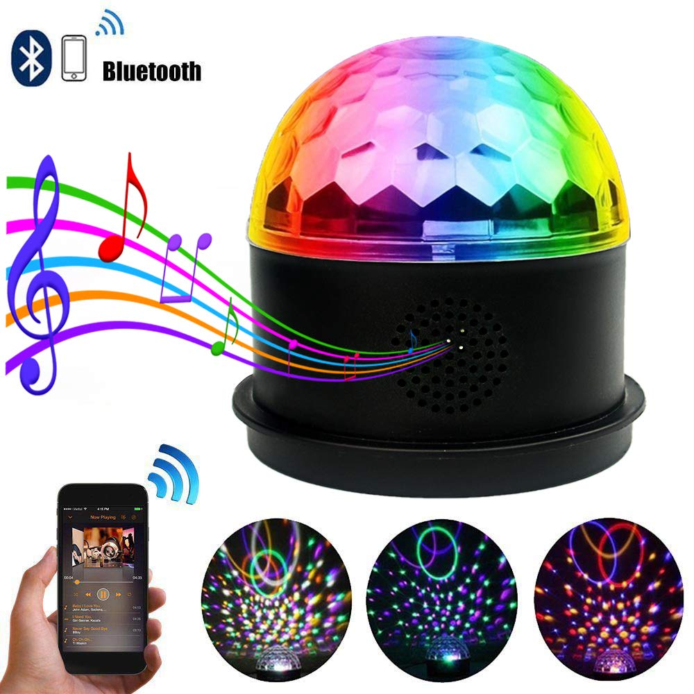 Dj Disco Ball Party Lights Bluetooth Speaker TONGK LED Magic Ball Colorful Mirror Ball Disco Lights Sound Activated Strobe Light for Home Party Gift Birthday halloween Dance Bar Xmas Wedding Show Club by TONGK (Image #4)