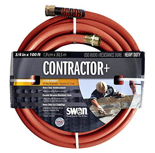 Contractors Water Hose - Swan Products SNCG34100 Commercial Use Contractor Heavy Duty Clay Water Hose 100 ft, 3/4