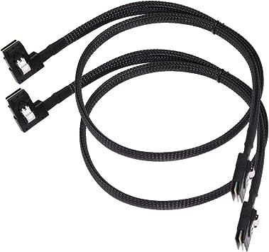 2pcs New SAS-A SAS-B SATA Cable For Dell Poweredge R610 R710 H700  M246M 0M246M