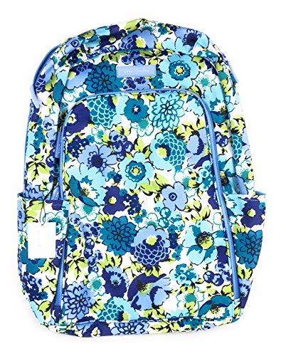 Vera Bradley Laptop Backpack Blueberry Blooms