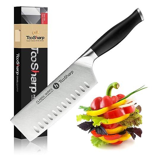 TooSharp Cuchillo de chef Nakiri - Serie Comfort-Pro ...