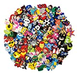YAOYAO 100 Pcs PVC Different Shoe Charms Fits for