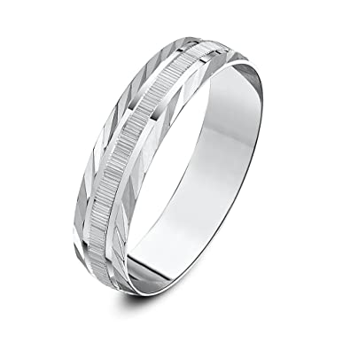 Theia Unisex Heavy Weight Circle Design with Millgrain Edge D Shape 9 ct Gold Wedding Ring hC1JzWn