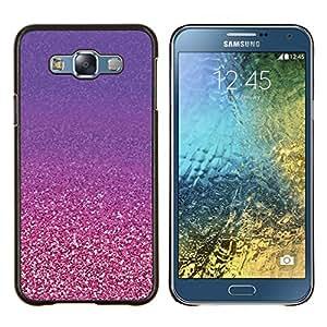 Planetar® ( Oro púrpura cobre Bling ) Samsung Galaxy E7 E700 Fundas Cover Cubre Hard Case Cover