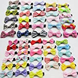Dogs Kingdom Variety Patterns Pet Dog Cat Ribbon Headdress Bowknot Hairpin Pet Metal Clip