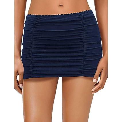 Mini falda elástica para mujer azul marino XXL: Amazon.es: Belleza