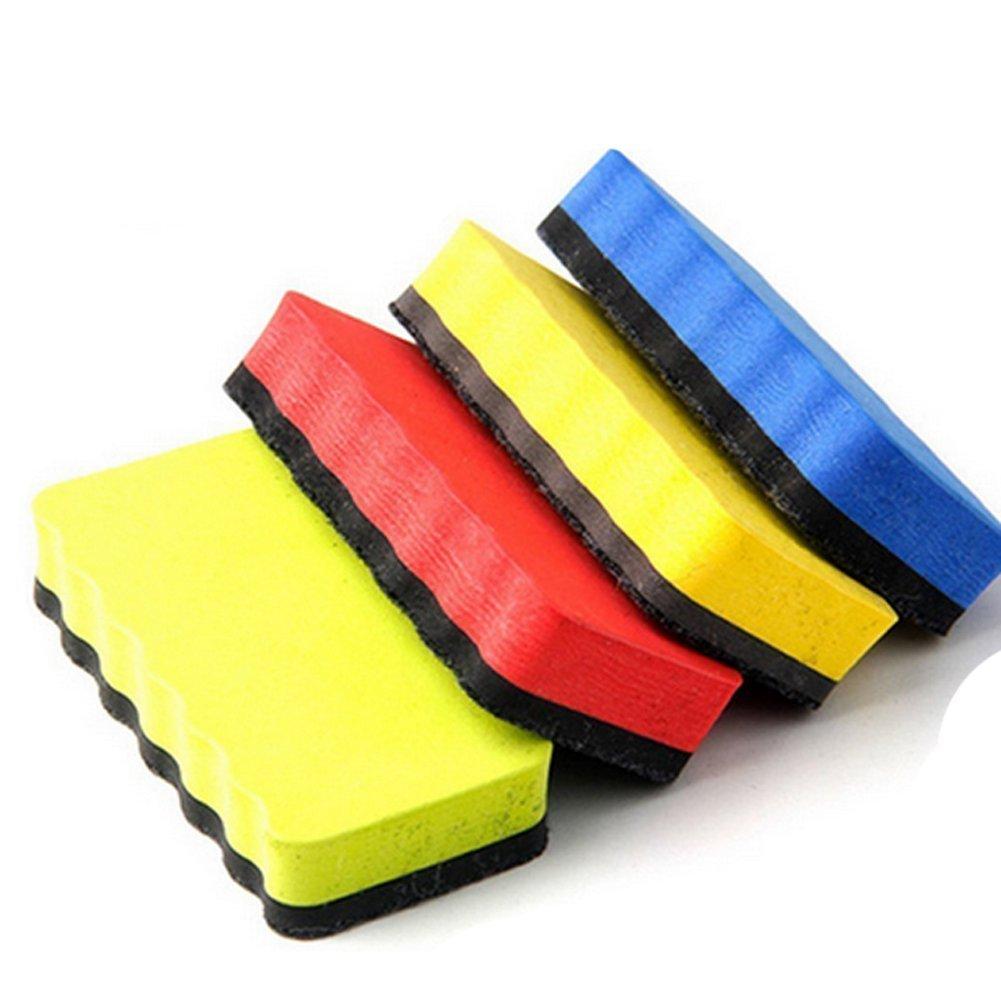 2pcs Éponge magnétique pour tableau blanc pour la maison école et bureau, couleur aléatoire