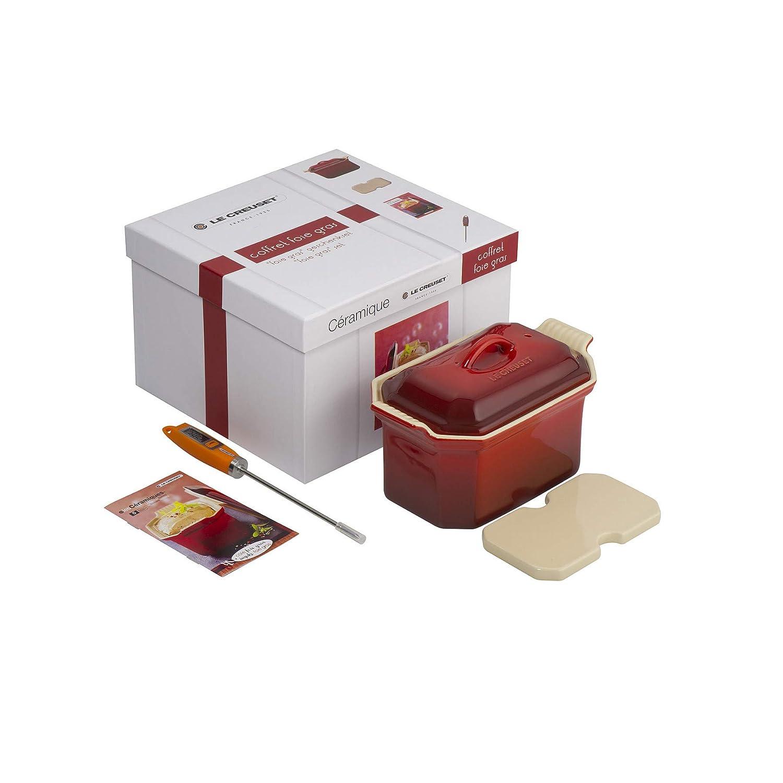 Le Creuset Stoneware Foie Gras Set- Cerise 91008406064110