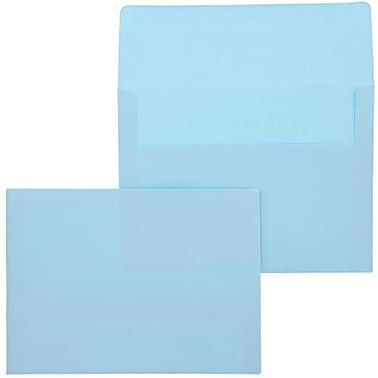 100 Pack Bright Color Azul De Neón A7 Sobres Para 5 X 7