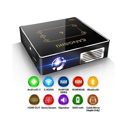 Qucking Light Proyector Portátil, Mini Proyector, Nuevo Proyector ...
