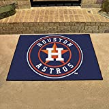 "Fanmats Home Indoor Sports Team Logo Mat Houston Astros All-Star Rugs 34""x45"""