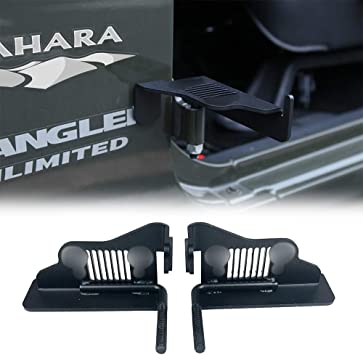 cartaoo Foot Pegs Solid Steel Black Foot Rest Kick Panel for 2007-2017 Jeep Wrangler JK /& Unlimited 2pcs in 1pack 1941 Style