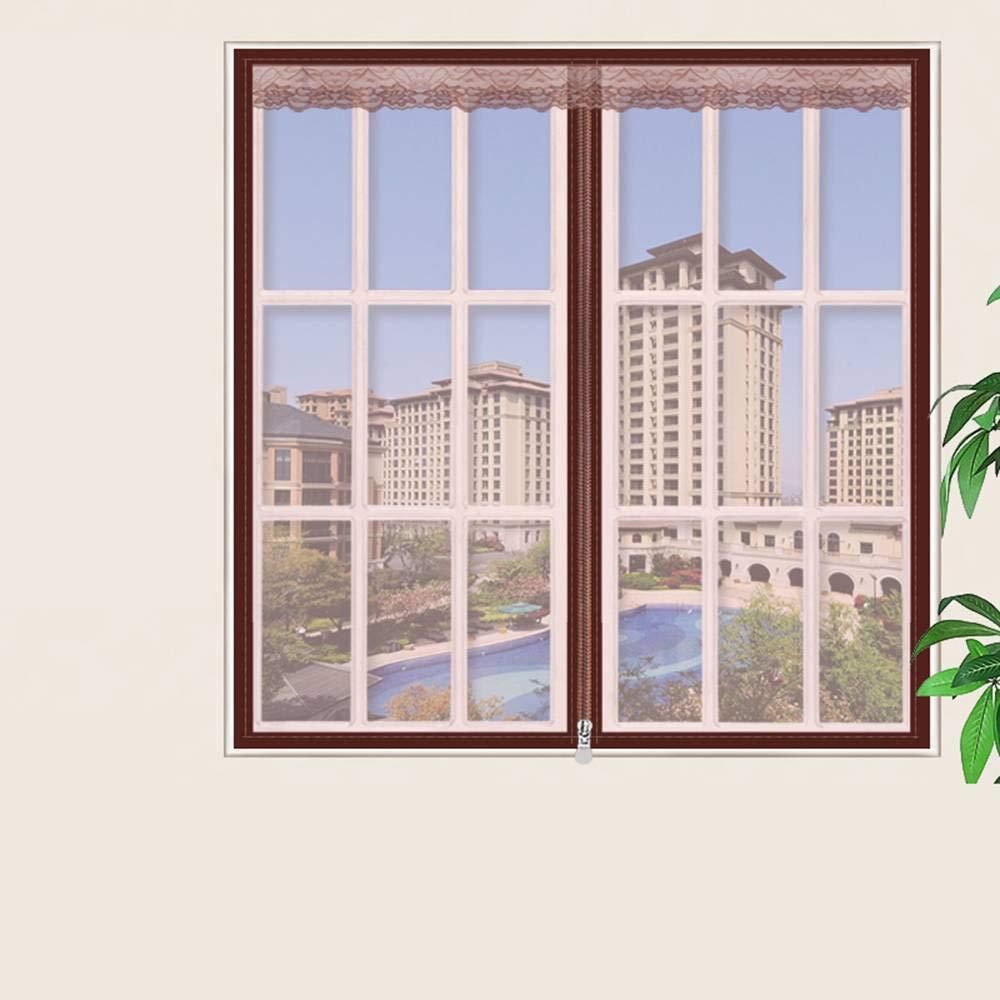 Schermata della finestra Zanzariera Magnetica zanzara Velcro Fotogramma Intero Magnetic Insect Door Screen Sipario per Porte Rete Super Fine Zanzariera Magnetica per Porte-60x100cm 24x39pollice -D