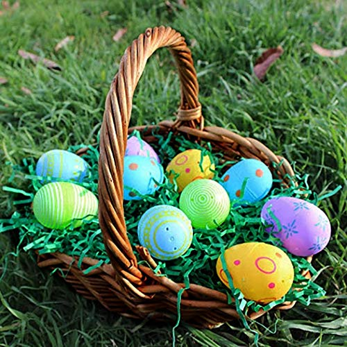 5 Packs Easter Green Grass Recyclable Paper Shred for Easter Basket Filler Creative Eggs Decor Filler Party Decoration Gift Packaging