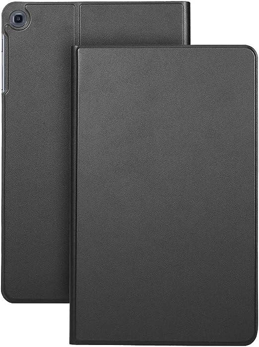 Negaor 保護ケースTPUバックケースカバータブレットサポートスタンドホルダーSamsung T510 / 515ブラック