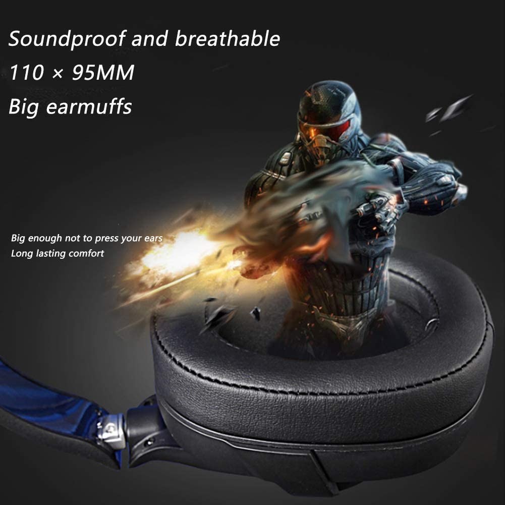 Over-The-Ear Noise Isolating YYZLG R15 Gaming Gaming Headset 7.1 Channel USB Desktop Computer Headset with Microphone Pc Gaming Headset