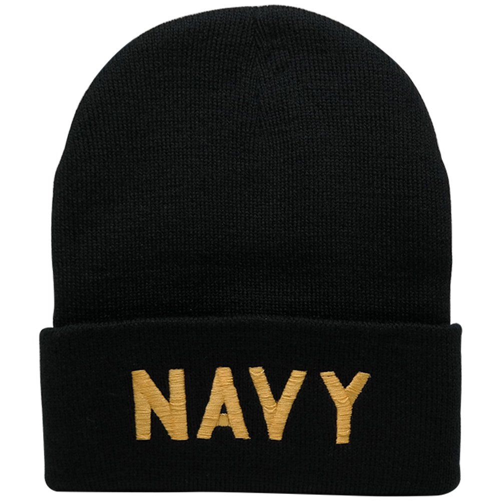 Amazon.com  Broner Hats Military and Law Enforcement Watch Cap Cuff Beanie  - Airforce - Black  Clothing 7b1068d392a