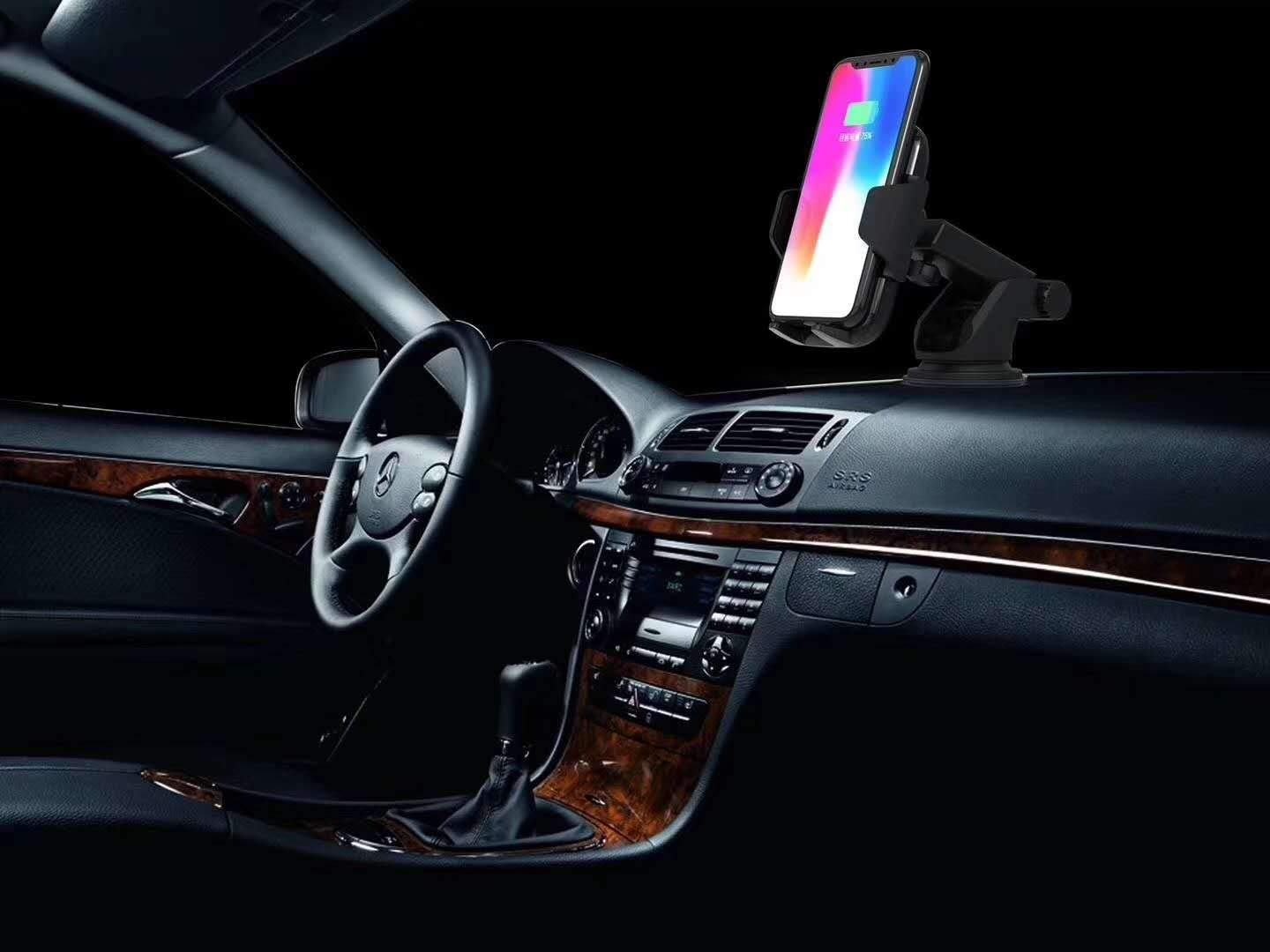 Wireless Charger Car Phone Mount Dashboard Windshield Phone Holder for iPhone Xs Max//XS//XR//X//8Plus//8 and for Samsung S9//S9+//S8//S8+//Note9//Note8 /& Other Smartphone Fitfirst