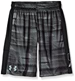 Under Armour Boys' Instinct Printed Shorts,   Black /Steel Youth X-Small