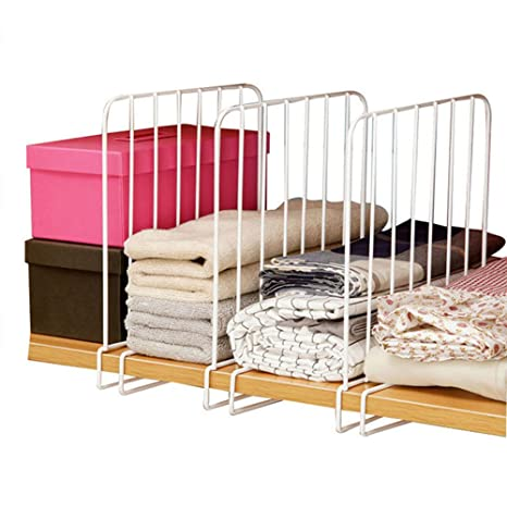 Everyfit Closet Shelf Dividers,Wardrobe Divide Wire Clothing Organizer, Closets Shelf And Closet Separator