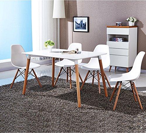 Kunstdesign set di 4 sedie stile eames design ergonomico for Sedie design eames