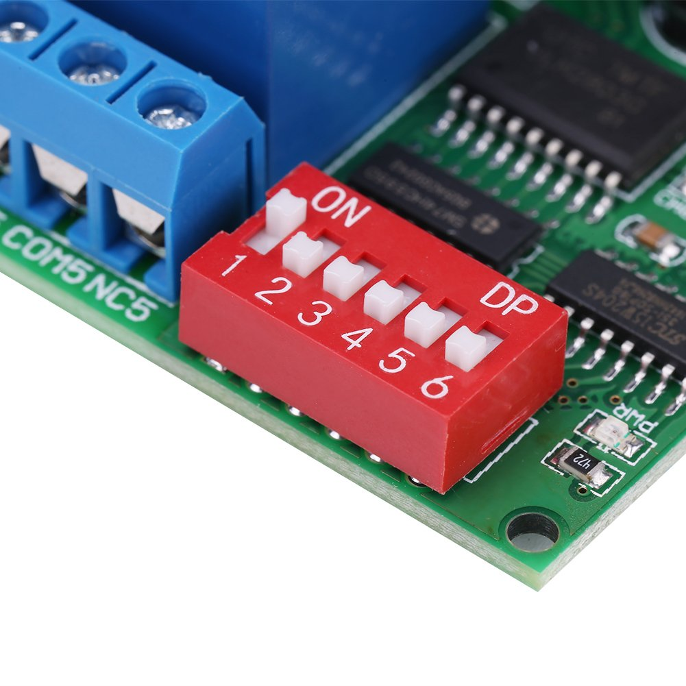 8 Channel RS485 Relay Module,DC 12V 8 Channel RS485 Relay Command Programmable Control Module Board Computer USB Control Switch//Driver