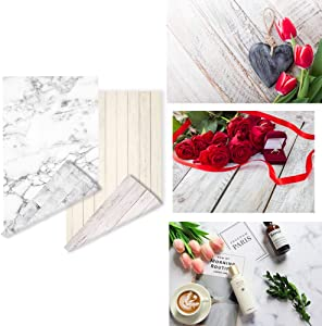 2 Pieces 4 Patterns Photographic Background Marble Textures Wood Grainy Wall Background Online Store Product Photography Backdrop Blogger Shoot Cosmetic Food ins Style Jewelry Photo Video Background