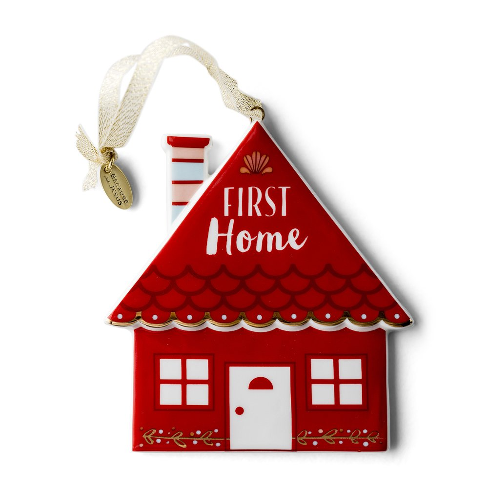 Christmas Ornament - Porcelain - First Home