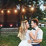 2 Pack 48 FT Outdoor String Lights Commercial Grade