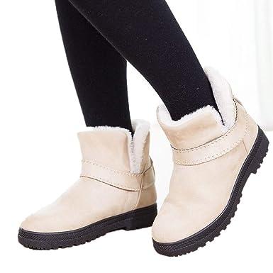 18168e9ac4343 Memela Clearance Sale!!Women Short Snow Boot Winter Boot Warm Winter Flat  Snow Short Boots Round Toe Shoes