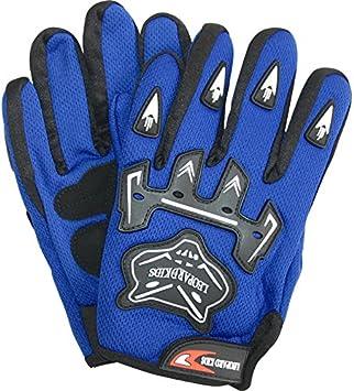 Leopard Kinder Motocross Blau Handschuhe L - 7cm und Brille Cross Motorrad Quad Off-Road f/ür Youth