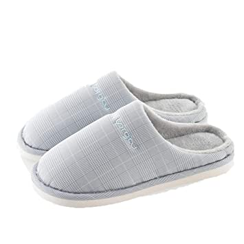 Algodón Zapatilla Pantuflas De Algodón Caliente Slippers Casa Zapatos Zapatillas Letra Plaid Simple Transpirable Antideslizante Resistente Al Desgaste ZHML ...